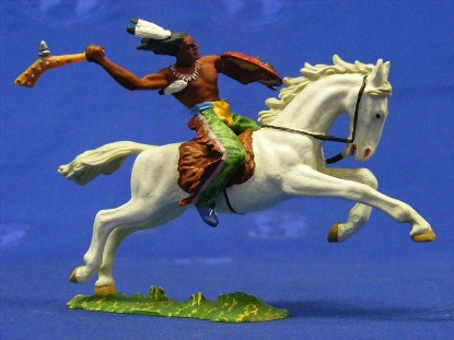 indian-on-horse-with-shield-weapon-elastolin-by-preiser-ELA7132