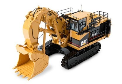 Picture of Cat 5230 hydraulic mining shovel brass white