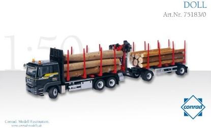 Picture of MAN Doll short timber truck NEUHAUSER