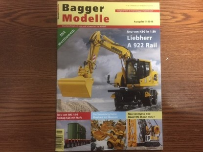 Picture of Baggermodelle 5-2016 German- English download