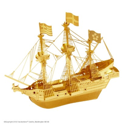 Picture of Golden Hind Ship gold version