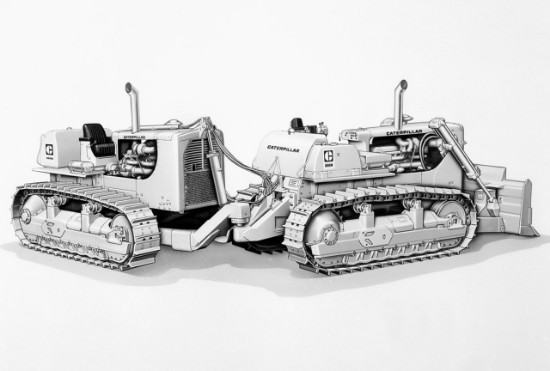 Cat® DD9G Push Dozer with Dual D9 Tractors