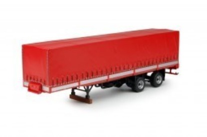 Picture of Curtainsider trailer with dropsides  red 2x