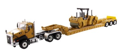 Picture of Caterpillar CT660+ XL 120 HDG lowboy + CB-534D roller