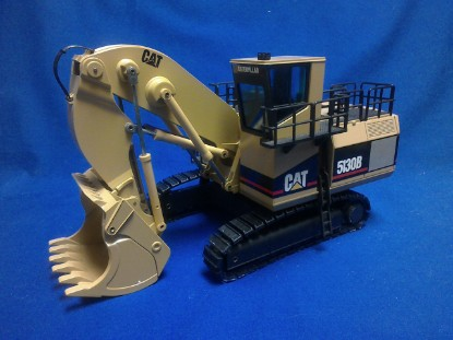 Picture of Caterpillar 5130B hydraulic mining shovel  yellow