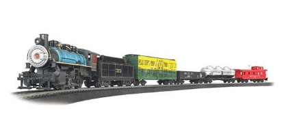 Picture of Chesapeake & Ohio 0-6-0 Steam Loco, 4 Freight Cars, Track Oval, Power Pack