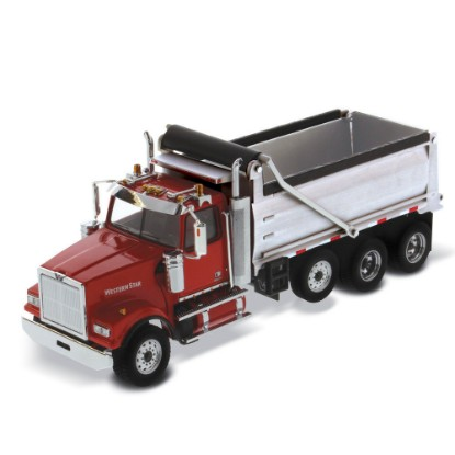 Picture of Western Star 4900 SF  dump - red cab/silver box