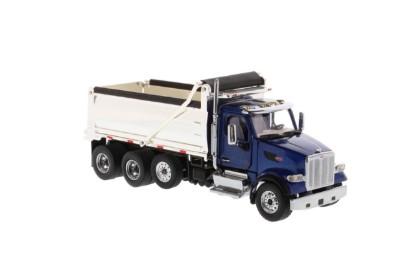 Picture of Peterbilt 579 dump - blue cab/chrome box