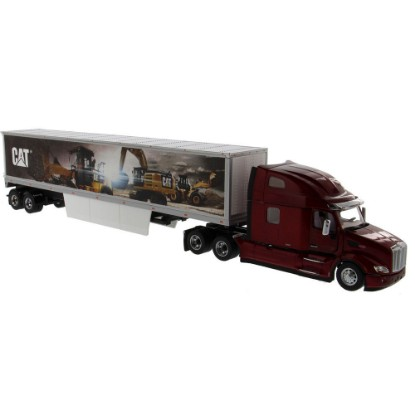 Picture of Peterbilt 579 with Cat mural trailer