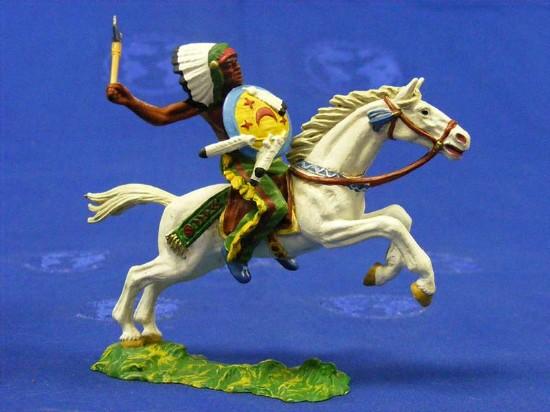 indian-chief-on-horse-with-tomahawk-elastolin-by-preiser-ELA7125