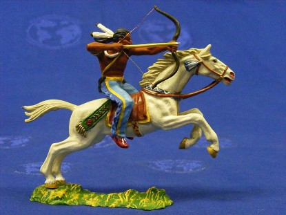 indian-on-horse-with-bow-arrow-elastolin-by-preiser-ELA7129