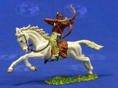 indian-on-horse-with-bow-arrow-elastolin-by-preiser-ELA7130