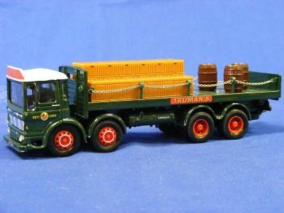 aec-flatbed-barrels-with-chains-truman-corgi-COR20901