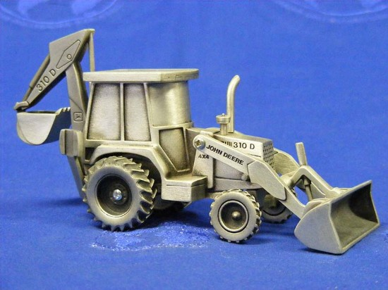 Pewter John Deere 310D Backhoe Loader