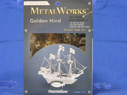 golden-hind-ship-fascinations-metal-works-FMW049