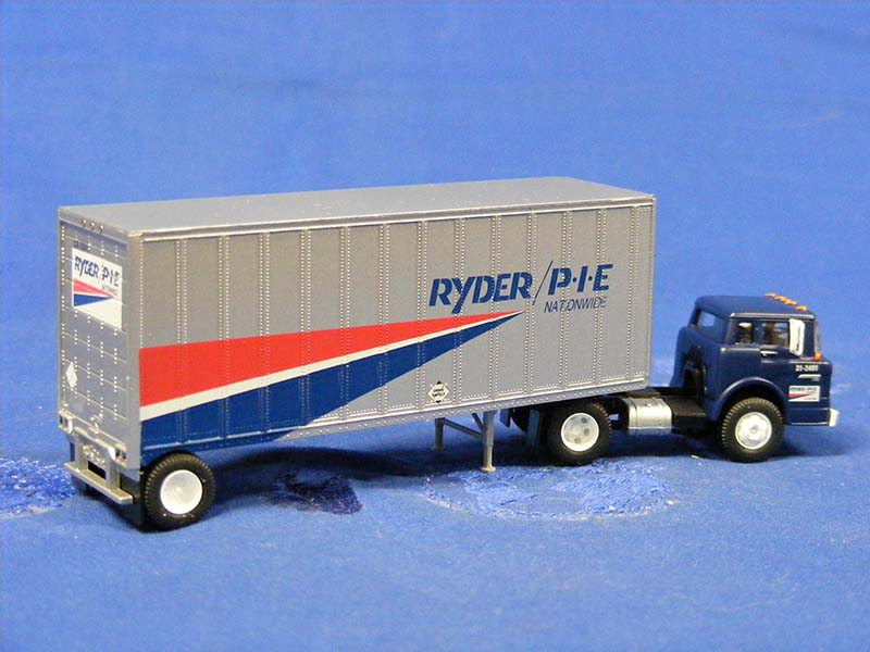 Ford COE PIE Next To IH COE Ryder Tractor Trailers Ford Trucks New Metal Sign