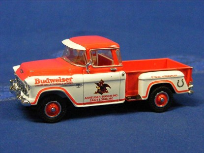 1955-chevy-pick-up-truck-red-white-budweiser-matchbox-yesteryear-MATYVT04-M