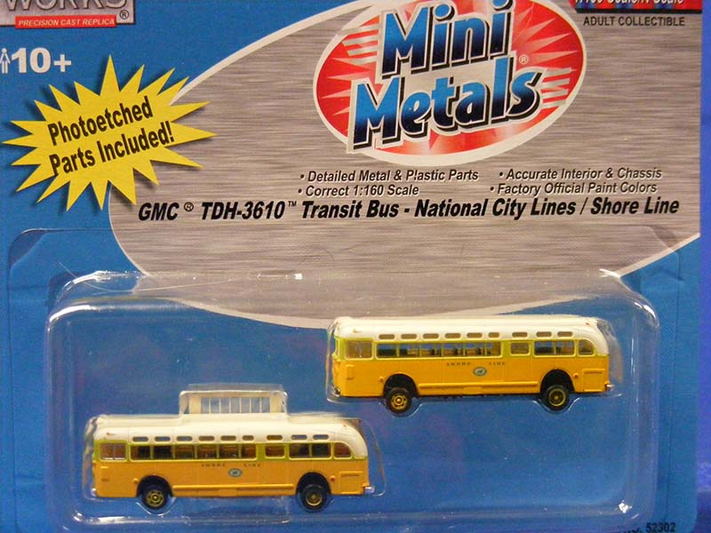 GMC TDH-3160 Transit Bus -Shore Line (Set of 2)