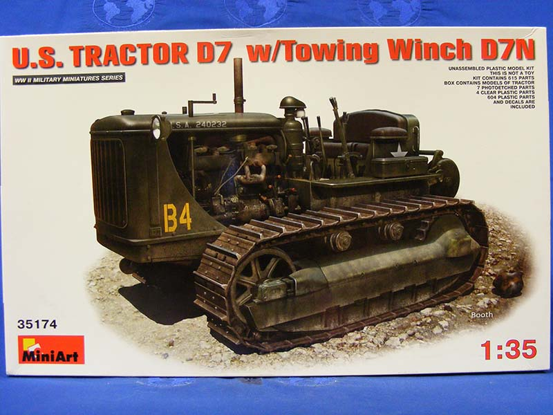 D7 Tractor w/ Towing Winch -US Army