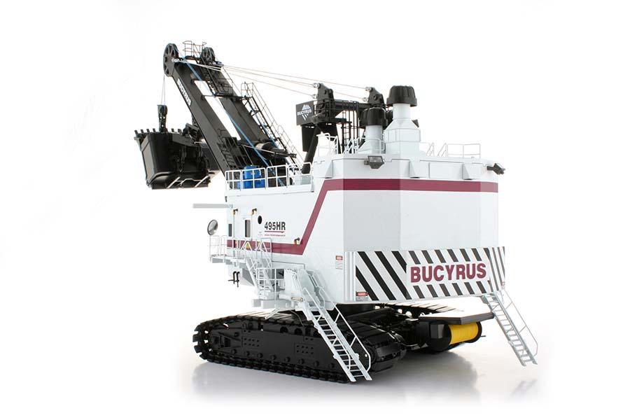 bucyrus-495hr-shovel-white-w-maroon-stripe-twh-collectibles-TWH012B