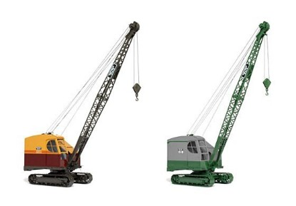 Picture of Bucyrus-Erie 15B crane   green,cream, maroon