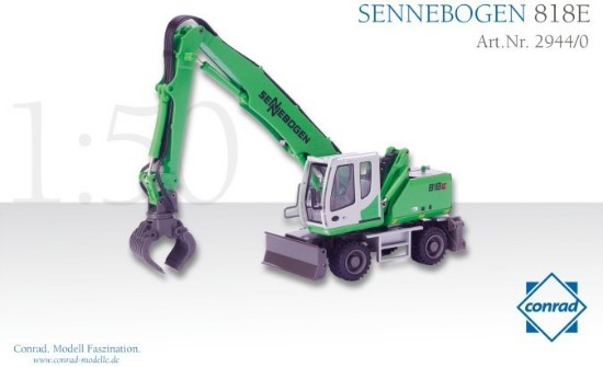 Picture of Sennebogen 818E wheeled excavator + grapple