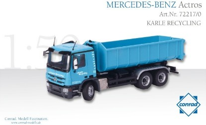 Picture of MB + Meiller roll-off dump KARLE RECYCLING