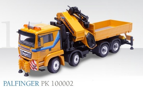 Picture of MAN flatbed + Palfinger PK100002 PRANGL
