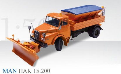 Picture of MAN HAK15.2 truck with snowplow and spreader