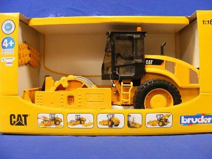 Picture of Cat vibratory soil compactor roller with blade