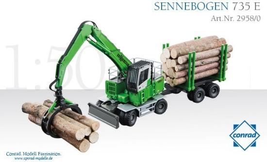 Picture of Sennebogen 735E wheeled excavator + grapple