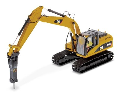 Picture of Caterpillar 320D track excavator with demolition hammer