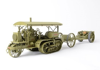 """Picture of Holt 75 tractor +limber + 8"""" howitzer"""