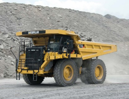 Picture of Cat 777G mining dump