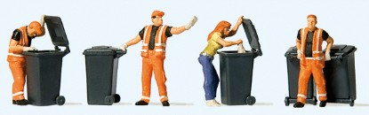 Picture of Garbage Collection -- 4 Figures & Carts