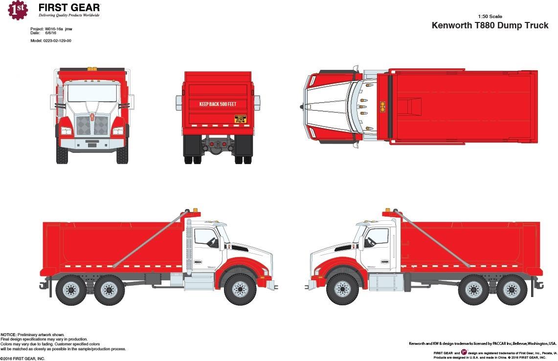 Buffalo Road Imports. Kenworth T880 Dump Truck red/silver ...Kenworth Dump Trucks Graphics