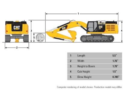 Picture of Caterpillar 349F L track excavator  brass