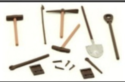 Picture of Track Gang 14pc Set (Shovel, Pick Axe, Sledge Hammers, Spikes, etc
