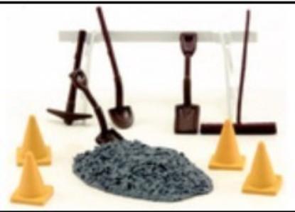 Picture of Road Repair 10pc Set (Barricade, Shovels, Broom, Cones, etc)