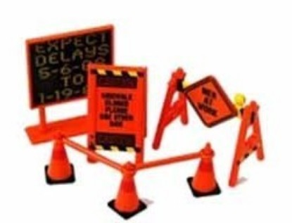 Picture of Roadside Accessories: Warning Signs, Cones, Barrier Bars