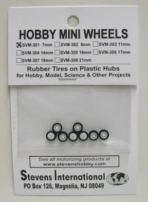 Picture of Rubber Tires on Plastic Hubs (8) (7mm)