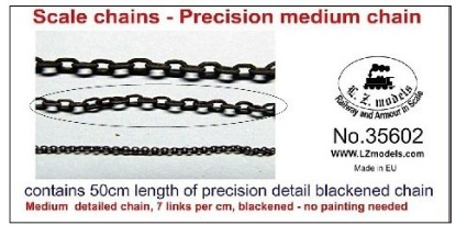 Picture of 50cm Medium Blackened Detail Chain 7 Links per cm