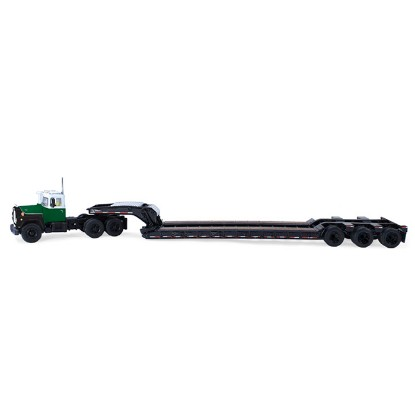 Picture of Mack R with Tri-Axle Lowboy  white/green/black