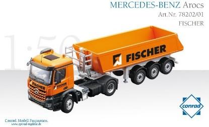 Picture of MB Arocs Schmitz Cargobull dump FISCHER