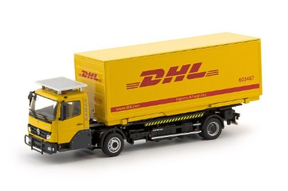 Picture of Kamag Wiesel with DHL container - yellow