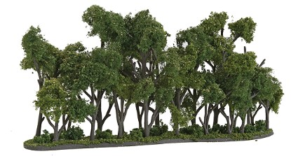 """Picture of Hedge Row - Ready Made Trees-- 8-1/4 x 1 to 4"""""""
