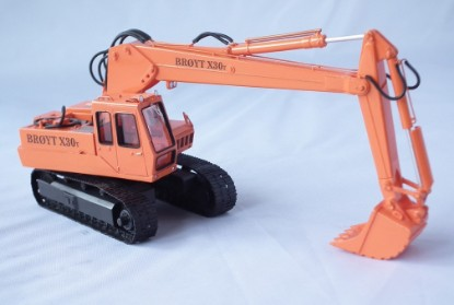 Picture of Broyt X30T Track Excavator - orange later cab