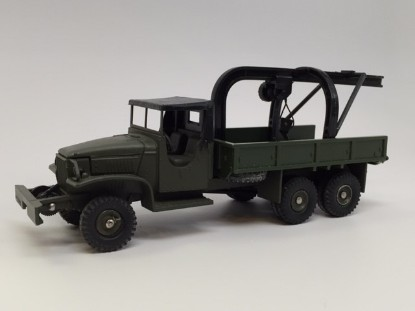 Picture of GMC transport soft top cab - crane recovery truck  green