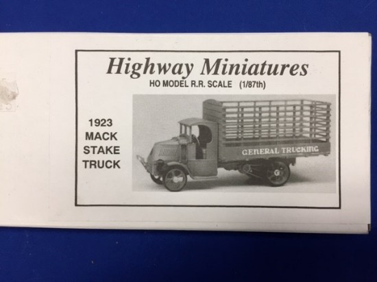 Picture of Mack stake truck 1923