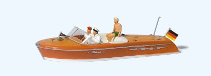Picture of Riva Ariston Motorboat w/Crew -- Set #1 (brown)
